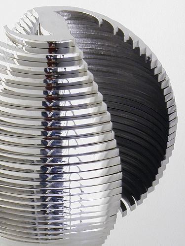 Eugenio Coppo, Sfera 208 (2009), 34 elementi, acciaio inossidabile, cm 21x25, composizione 2